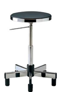 コンパクト 導電作業チェアー 固定脚タイプNOTD-ER2L