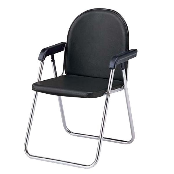折りたたみチェア 折りたたみ椅子 イス いす 肘付き Sバネ座 レザー張り TO-333RL