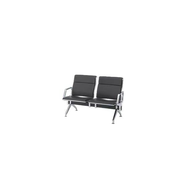 オカムラ ロビーチェア 23A8 シリーズ 2人用 椅子 両側肘付 ウレタンレザー 共張り 23A8EA-P