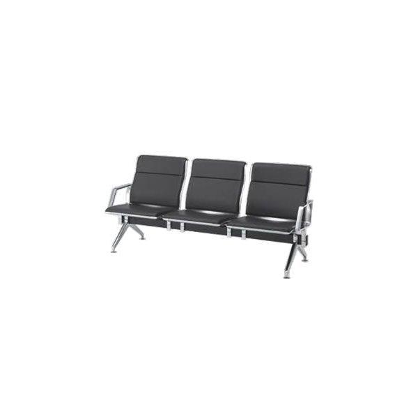 オカムラ ロビーチェア 23A8 シリーズ 3人用 椅子 両側肘付 ウレタンレザー 共張り 23A8EB-P