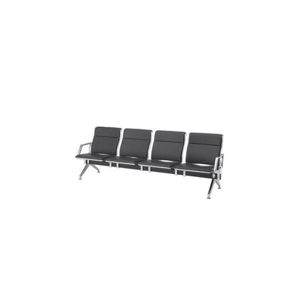 オカムラ ロビーチェア 23A8 シリーズ 4人用 椅子 両側肘付 ウレタンレザー 共張り 23A8EC-P