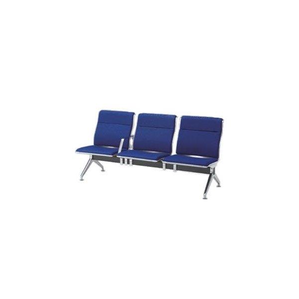 オカムラ ロビーチェア 23A8 シリーズ 3人用 椅子 中間肘付 ウレタンレザー パンチング 23A8HB-P