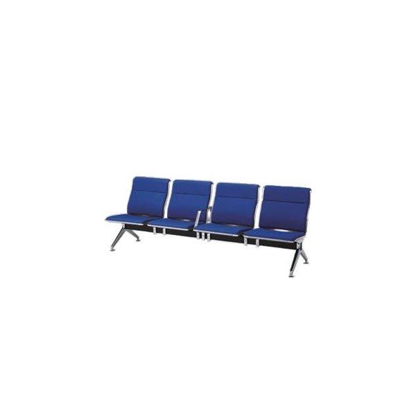 オカムラ ロビーチェア 23A8 シリーズ 4人用 椅子 中間肘付 ウレタンレザー パンチング 23A8HC-P