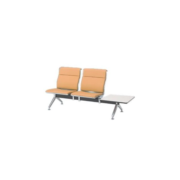 オカムラ ロビーチェア 23A8 シリーズ 2人用 椅子 左テーブル付 ウレタンレザー 共張り 23A8WA-P