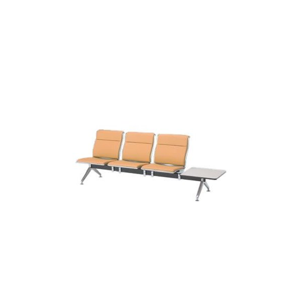 オカムラ ロビーチェア 23A8 シリーズ 3人用 椅子 左テーブル付 ウレタンレザー 共張り 23A8WB-P