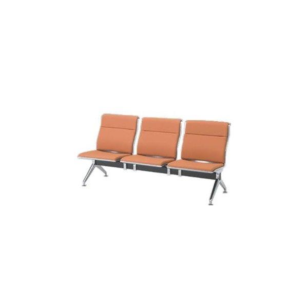 オカムラ ロビーチェア 23A8 シリーズ 3人用 椅子 ウレタンレザー 共張り 23A8YB-P