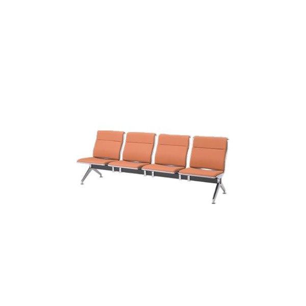 オカムラ ロビーチェア 23A8 シリーズ 4人用 椅子 ウレタンレザー 共張り 23A8YC-P