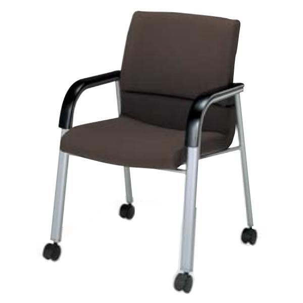 コクヨ ミーティングチェア 会議イス 会議椅子 オフィス セミナー 会議用イス 会議椅子 会議チェアー 300シリーズ スクエアタイプ キャスター付 肘付き ビジターチェア CK-306C