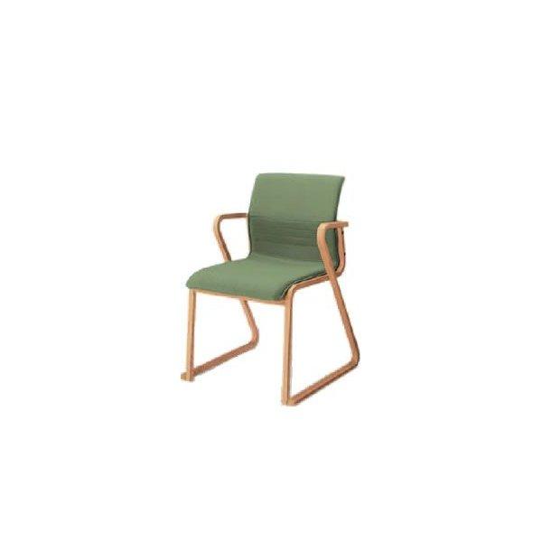 コクヨ 会議椅子 ミーティングチェアー 240シリーズ 木製脚 肘付き チェア CK-W243