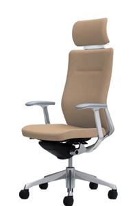 オカムラ コーラル チェア クッションタイプ エクストラハイバック 本体カラーホワイト 脚カラーポリッシュ デザインアームCQ4CBW