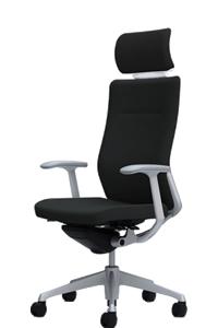 オカムラ コーラル チェア クッションタイプ エクストラハイバック 本体カラーホワイト 脚カラーシルバー デザインアームCQ4CGW