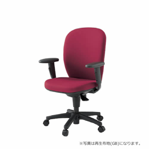 イトーキ 椅子 リエット チェアー 事務チェアー オフィスチェアー 事務椅子 ハイバック アジャスタブル肘 抗菌布地(PG) ナイロン双輪キャスター付 KFS-737PG