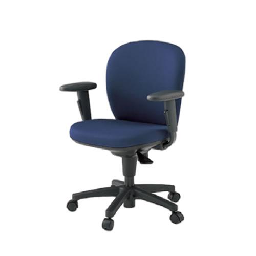 イトーキ 椅子 リエット チェアー 事務チェアー オフィスチェアー 事務椅子 ローバック 再生布地(GB) アジャスタブル肘 ナイロン双輪キャスター付 KFS-747GB