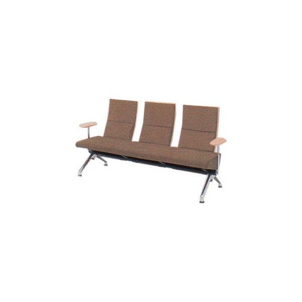 オカムラ ロビーチェア セデオ シリーズ 椅子 ウレタンレザー背パッドなし 両肘付 LB24AB-P