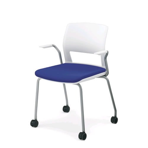 コクヨ 会議椅子 ミーティングチェア 肘付 背樹脂 キャスター脚 スタッキング 160シリーズ CK-161C