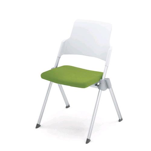 コクヨ 会議椅子 ミーティングチェア スタック 4本脚 固定脚 アンフィ 肘なし 背樹脂タイフ゜ CK-670