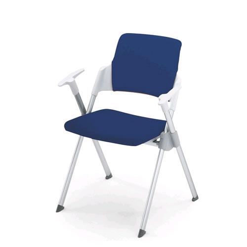 コクヨ 会議椅子 ミーティングチェア スタック 4本脚 固定脚 アンフィ 肘付 背カバー付 CK-671R