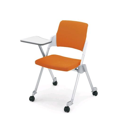 コクヨ 会議椅子 ミーティングチェア スタック 4本脚 キャスター メモ台付 アンフィ 肘なし 背カバー付 CK-675CR