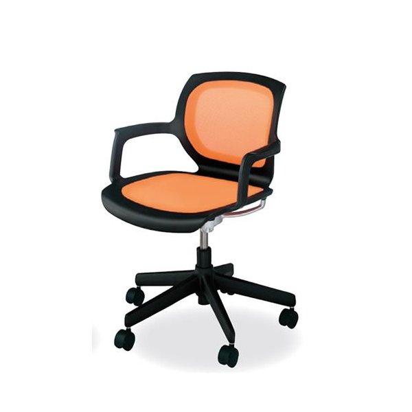 コクヨ 会議椅子 ミーティングチェア 回転タイプ キャスター 肘付 マリンバ ブラックフレーム CR-G1501F6
