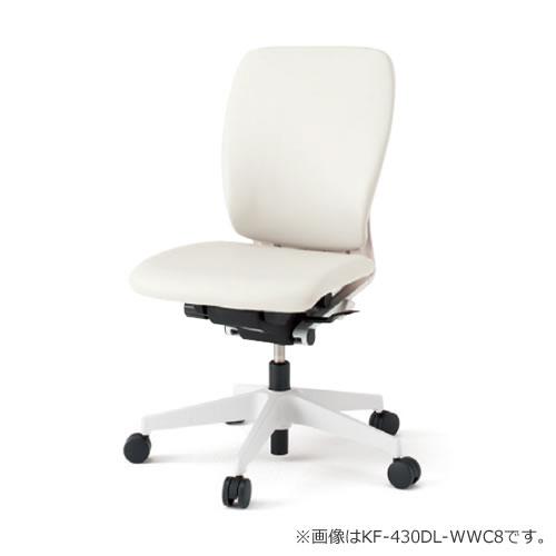 イトーキ フルゴ オフィスチェア ハイバック 本体カラー WWホワイト 肘なし ビニールレザー KF-430DL-WW