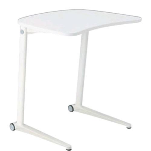 オカムラ シフト テーブル 水平天板 ワイド650mm ホワイト脚 幕板なしMS85BA