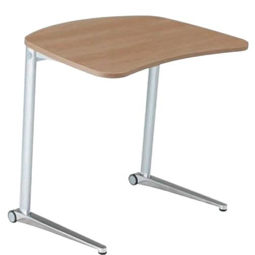 オカムラ シフト テーブル 傾斜天板 ワイド650mm ポリッシュ脚 幕板なしMS85EA