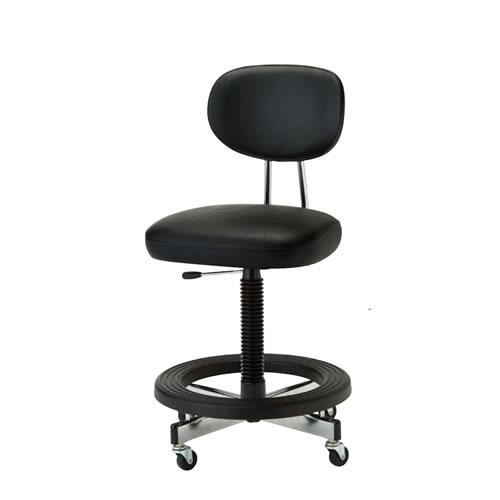 ステップ付 事務用椅子 キャスター付 ロッキング ガス上下調節 事務用チェア TL型 TL-17LDX