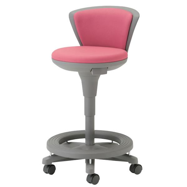 多目的 ステップ付 作業用椅子 背付 ソフトスツール キャスター付 ガス上下調節 TSS-16R-ST