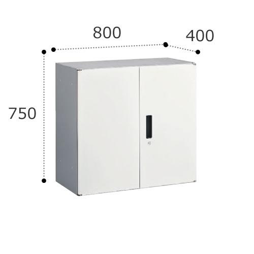オカムラ ビラージュ VS収納シリーズ 800W×400Dシリーズ 750H 両開き収納 鍵ラッチ付 VILLAGE 8VS76D-Z【お客様組立】