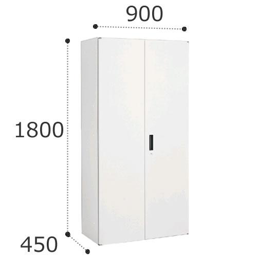 オカムラ ビラージュ VS収納シリーズ 900W×450Dシリーズ 1800H 両開き収納 鍵ラッチ付 下置き用 VILLAGE 8VU19D-ZC24【お客様組立】