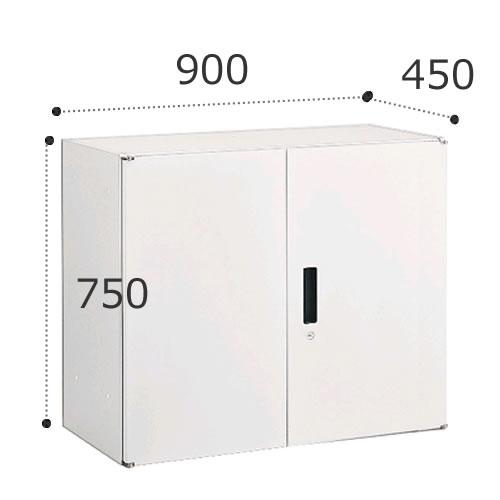 オカムラ ビラージュ VS収納シリーズ 900W×450Dシリーズ 750H 両開き収納 鍵ラッチ付 VILLAGE 8VU76D-ZC24【お客様組立】