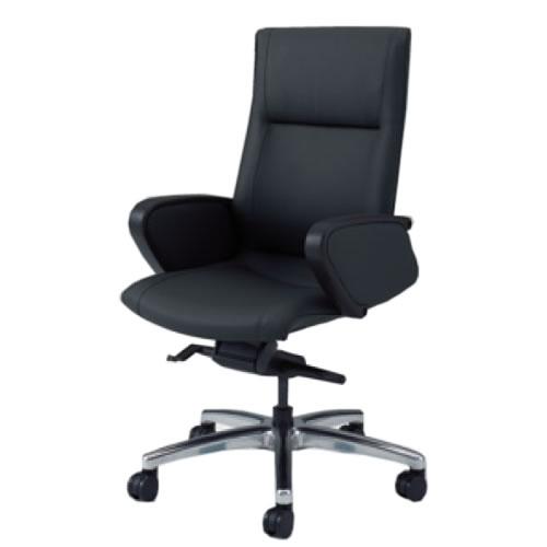 オカムラ CE エグゼクティブチェア 社長椅子 役員椅子 ハイバック 幕板付 固定肘 革 CZタイプ CE69CZ-P