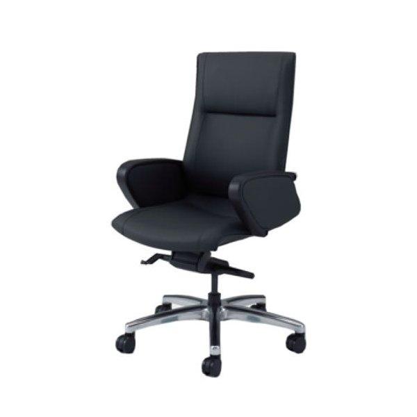 オカムラ CE エグゼクティブチェア 社長椅子 役員椅子 ハイバック 幕板付 固定肘 ビニール CZタイプ CE69CZ-PB