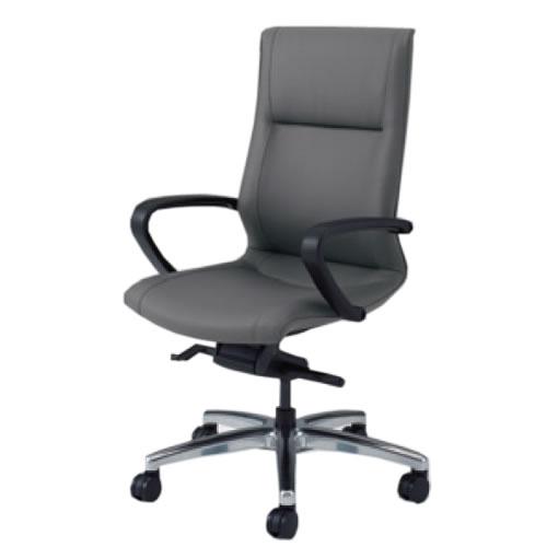 オカムラ CE エグゼクティブチェア 社長椅子 役員椅子 ハイバック 幕板なし 固定肘 革 FZタイプ CE69FZ-P