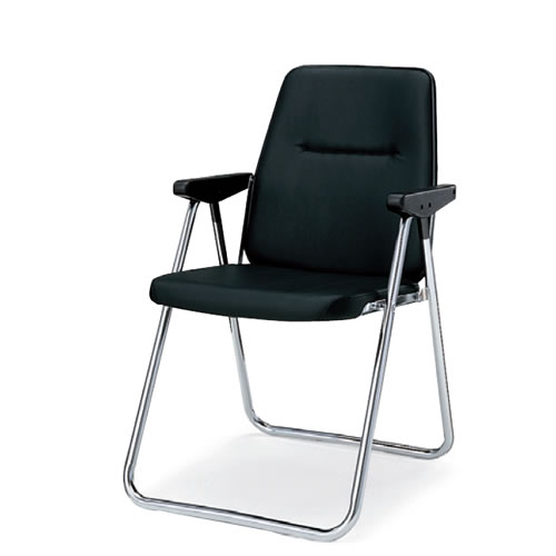 コクヨ 折りたたみ椅子 折りたたみイス 折りたたみバネイス 肘付 スチール脚 ビニールレザー CF-B24
