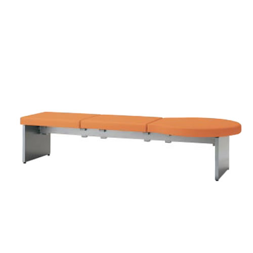 コクヨ ロビーチェア 待合 病院 長椅子 3人掛け アームなし 張りぐるみタイプ アールタイプ ベンチタイプ レザー張り パドレ CN-1203B