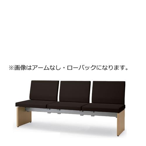 コクヨ ロビーチェア 待合 病院 長椅子 3人掛け アームなし 成型合板タイプ アールなし ハイバック レザー張り パドレ CN-1203WHW