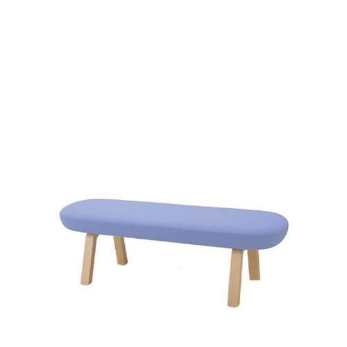 コクヨ ロビーチェア 待合 病院 長椅子 3人掛け ベンチタイプ 木脚 レザー張り マドレ CN-W1103BW21N