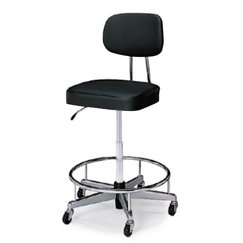 コクヨ 作業用チェア 作業椅子 ガス昇降 背付き キャスター ステップ付き CR-FG5