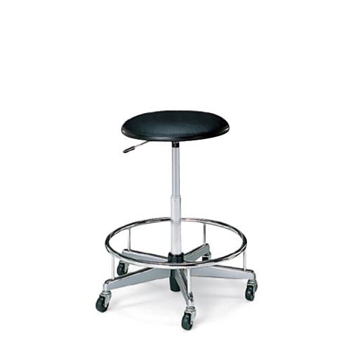 コクヨ 作業用チェア 作業椅子 ガス昇降 背なし キャスター ステップ付き CR-FG70