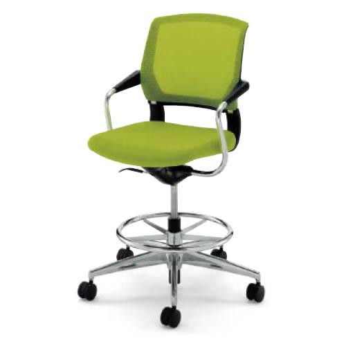 コクヨ 会議椅子 ミーティングチェア 肘付 ハイタイプ アルミ脚 キャスター サテリテ CR-FGM791