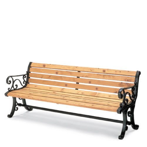コクヨ 屋外用家具 屋外用ベンチ 背付き 肘付き 間伐材入りベンチシリーズ PF-MC17NN
