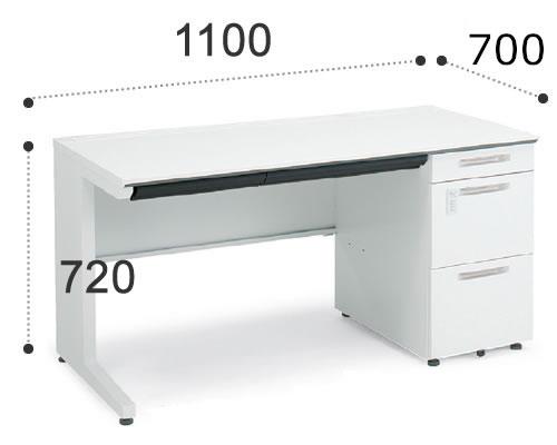 コクヨiSデスクシステム 片袖デスク A4タイプ 幅1100ミリSD-ISN117LCASPAWN