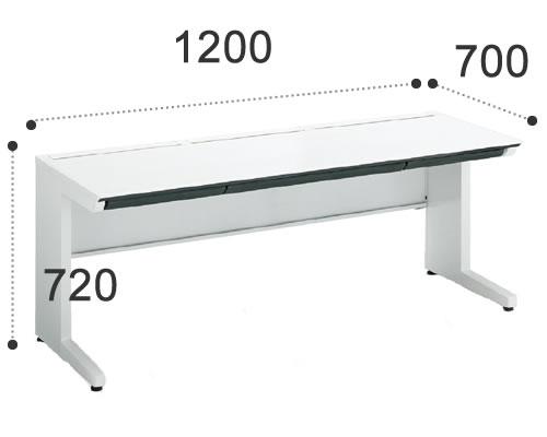 コクヨ iSデスクシステム スタンダードテーブル 幅1200ミリSD-ISN127CLSPAWN