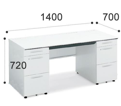 コクヨiSデスクシステム 両袖デスク A4タイプ 幅1400ミリSD-ISN147CAASPAWN