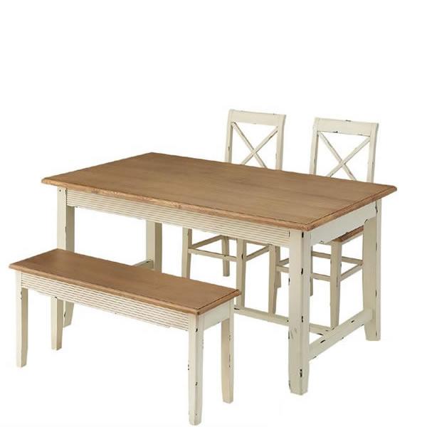 東谷 ブロッサム ダイニングテーブル 145×85 4点セット COL-017 COL-019 COL-027