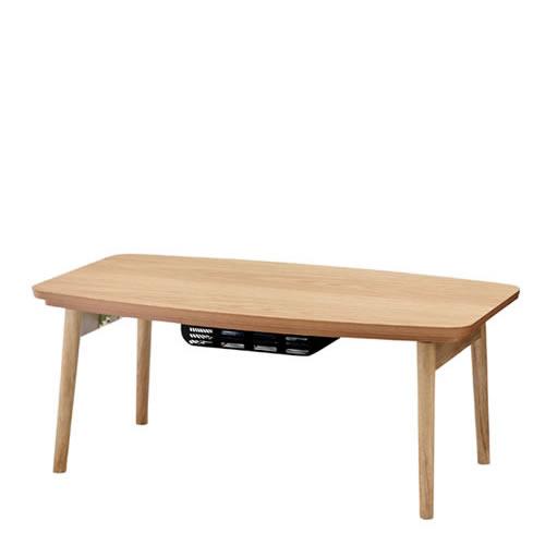 東谷 エルフィ こたつテーブル 90×50 長方形 家具調こたつ ELFY901