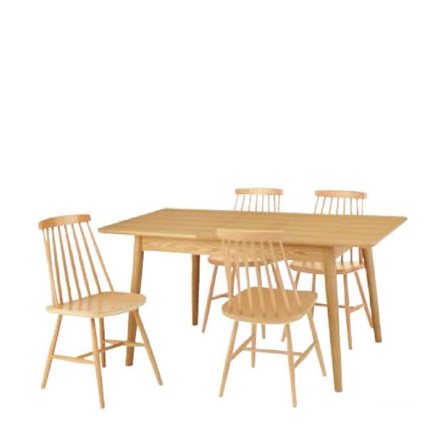東谷 エクステンションテーブル 120~150×80 5点セット HOT-511T CL-311