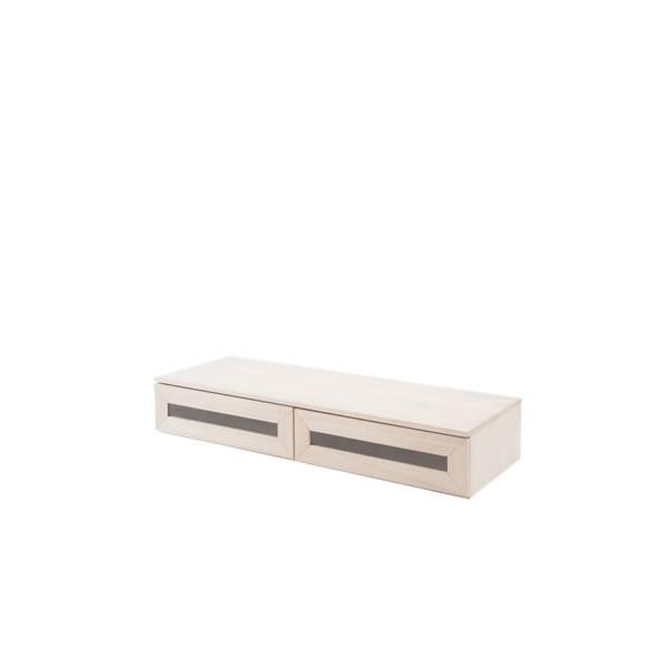 ユニットボックス フラップ扉テレビ台 天然木桐材 ナチュラル 収納ボックス 壁面収納 テレビ台 全32種類から選べる NR-GA-0043