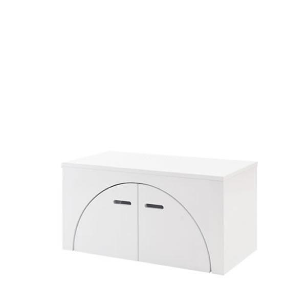 ユニットボックス アークボックス MDF艶出し塗装 ホワイト テーブル 壁面収納 間仕切り収納 全32種類から選べる NR-GA-0046